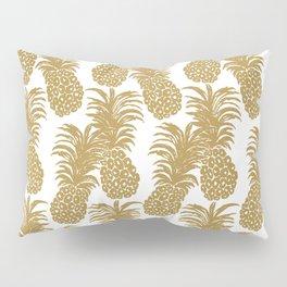 Gold Pineapples Pillow Sham
