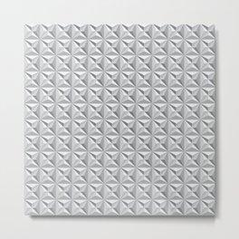 Geotex Grey Metal Print