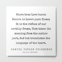 76    | Samuel Taylor Coleridge Poems | 200207 Metal Print