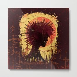 Forest Punk Vintage Metal Print