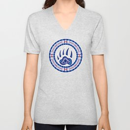 Bear Spirit (Blue) Unisex V-Neck