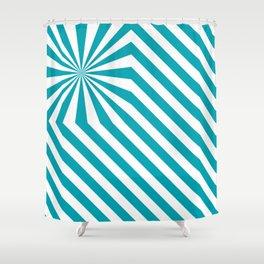 Stripes explosion - Blue Shower Curtain