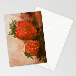 Red strawberries painting Stationery Cards