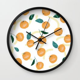 Mandarinas de Invierno Wall Clock