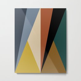 Geometric Triangles - Bold Rainbow Metal Print