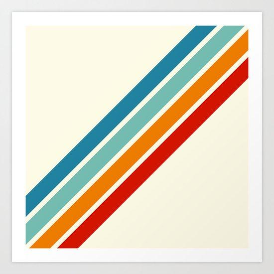 Alator - Classic 70s Retro Summer Stripes by alphaomega
