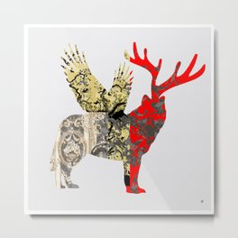 FabCreature · Steppenwolf 2 Metal Print