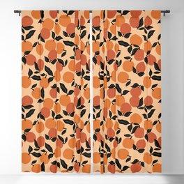 Seamless Citrus Pattern / Oranges Blackout Curtain