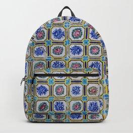 Floral Blue Variety tiles Backpack