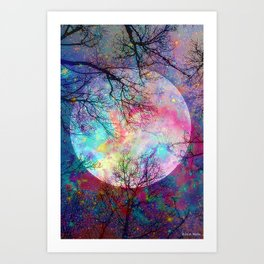 Rainbow Moon Art Print
