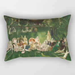 "Classical Masterpiece ""The Tennis Tournament"" by George Bellows, 1920 Rectangular Pillow"