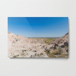 Rocky Landscape - Badlands Travel Photography Metal Print