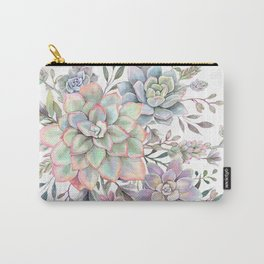 succulent watercolor 8 Carry-All Pouch