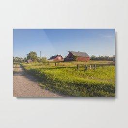 Abandoned Farm, North Dakota Metal Print