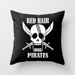 Red hair pirates Throw Pillow