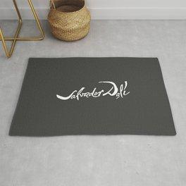 Salvador Dali Signature, Artwork for Wall Art, Prints, Posters, Tshirts, Men, Women, Kids Rug