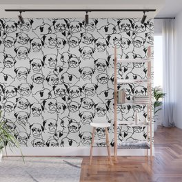 Oh Pugs Wall Mural