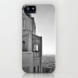 Griffith Park Observatory And Downtown Los Angeles iPhone Case