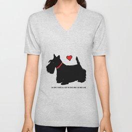 Scottish Terrier Dog-I'm Sorry (red heart) Unisex V-Neck