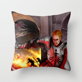 Dragon Age - Cullen - Tower in Flames Throw Pillow
