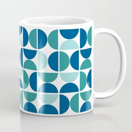Geometric Abstract Blue Coffee Mug