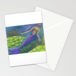 The Mermaid and The Turtles Stationery Cards