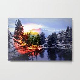 Colorado Flag/Landscape Metal Print