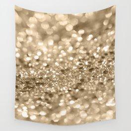 Champagne Gold Lady Glitter #2 #shiny #decor #art #society6 Wall Tapestry
