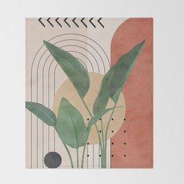 Nature Geometry V Throw Blanket