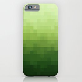 Gradient Pixel Green iPhone Case