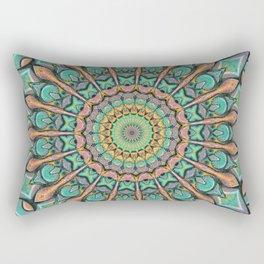 Sunset Mandala Rectangular Pillow