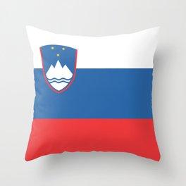 Slovenian Flag Throw Pillow