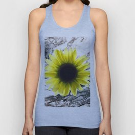 Marble and Sun Flower Unisex Tank Top