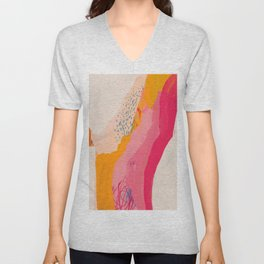 Abstract Line Shades Unisex V-Neck