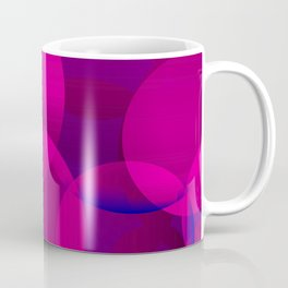 Abstract soap of lilac molecules and bubbles on a dark background. Coffee Mug