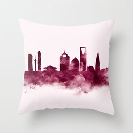 Riyadh Skyline Throw Pillow