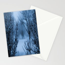 Foggy Winter Solstice Stationery Cards