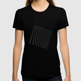 Black And  White Pop Art Optical Illusion T-shirt