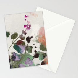 floral abstract summer autumn Stationery Cards