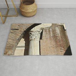 Roman Column Porticus Octaviae Monument Rome Italy Rug