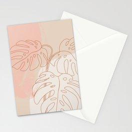Monstera Blush #shapeart #digitalart Stationery Cards
