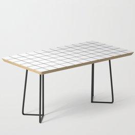 Grid Pattern Stripes Lines Black and White Minimalist Geometric Stripe Line Coffee Table