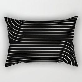 Minimal Line Curvature - Black and White II Rectangular Pillow