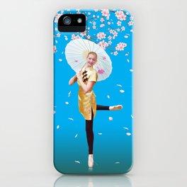 Cherry Blossom Ballerina iPhone Case