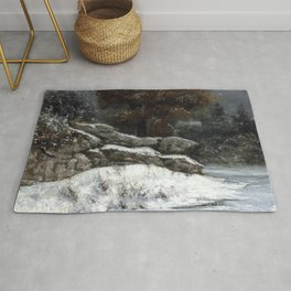 "Gustave Courbet ""The Winter (L'Hiver)"" Rug"