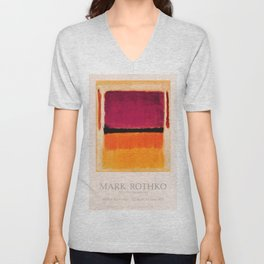 Mark Rothko Exhibition poster 1979 Unisex V-Neck