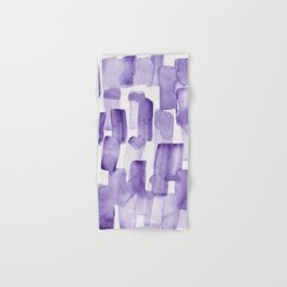 Purple Watercolour Patterns | 190129 Abstract Art Watercolour Hand & Bath Towel