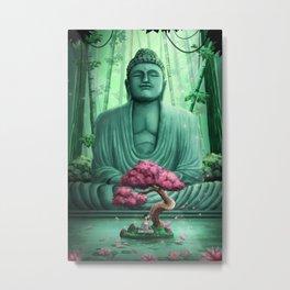 Lotus Buddha Metal Print