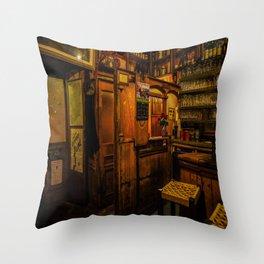 Old Irish Pub Throw Pillow