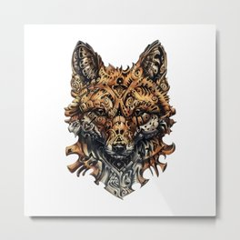 Steampunk - Fox Metal Print